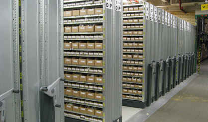 semi-automation mobile shelving